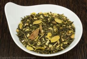 Gebrannte Mandel . grüner Tee